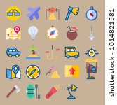 icons beach and camping with... | Shutterstock .eps vector #1014821581