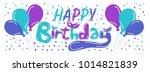 happy birthday beautiful... | Shutterstock .eps vector #1014821839