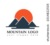 mountain logo. mountains... | Shutterstock .eps vector #1014822535
