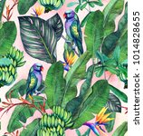 seamless watercolor pattern... | Shutterstock . vector #1014828655