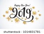 2019 hand written lettering... | Shutterstock .eps vector #1014831781