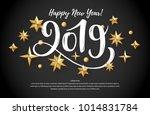 2019 hand written lettering... | Shutterstock .eps vector #1014831784