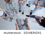 high angle of rehab specialist... | Shutterstock . vector #1014834241