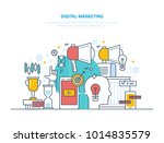digital marketing  media... | Shutterstock .eps vector #1014835579