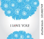 hand drawn flower stripe...   Shutterstock .eps vector #101483749