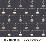 seamless pattern with coffee... | Shutterstock .eps vector #1014840199