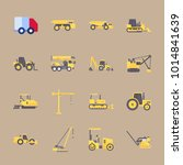 icons construction machinery... | Shutterstock .eps vector #1014841639