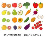 fruits and vegetables...   Shutterstock .eps vector #1014842431