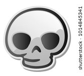 skull emoji face  emoticon ... | Shutterstock .eps vector #1014845341