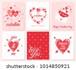 set of creative valentines day... | Shutterstock .eps vector #1014850921