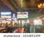 blurred open space sport bar... | Shutterstock . vector #1014851359