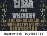 vintage font typeface... | Shutterstock .eps vector #1014855715