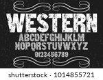 vintage font typeface... | Shutterstock .eps vector #1014855721