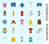 icons about man clothes with... | Shutterstock .eps vector #1014856015