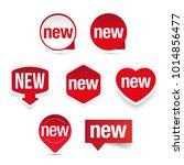 new label set sticker | Shutterstock .eps vector #1014856477