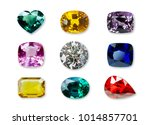 Bright gems isolated on a white ...