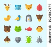 icons about animals with... | Shutterstock .eps vector #1014860674