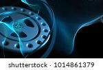 blue background with gear... | Shutterstock . vector #1014861379