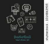 basketball hand drawn doodle... | Shutterstock .eps vector #1014863905