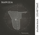 namibia map hand drawn with... | Shutterstock .eps vector #1014872665