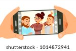 taking photo on smartphone... | Shutterstock .eps vector #1014872941