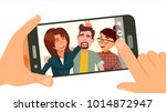 taking photo on smartphone... | Shutterstock .eps vector #1014872947