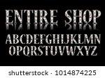 silver 3d broadway alphabet. on ...   Shutterstock .eps vector #1014874225