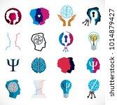 psychology  brain and mental... | Shutterstock .eps vector #1014879427
