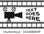 simple movie reel banner | Shutterstock .eps vector #1014880849