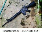 Small photo of Toy Gun. Air Gun. Long Barrel Rifle.