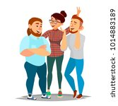 people group taking photo.... | Shutterstock . vector #1014883189
