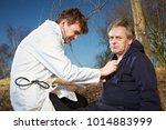 older man fell while running in ...   Shutterstock . vector #1014883999