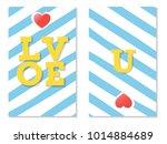 love u  st. valentines greeting ... | Shutterstock .eps vector #1014884689