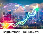 stock market digital graph...   Shutterstock . vector #1014889591