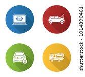 auto workshop flat design long... | Shutterstock .eps vector #1014890461