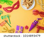purim holiday background with... | Shutterstock . vector #1014893479