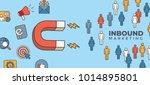 inbound header w magnet... | Shutterstock .eps vector #1014895801