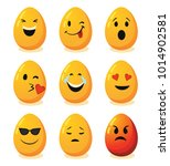 set of decorative eggs for... | Shutterstock .eps vector #1014902581