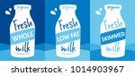 fresh milk vector illustration  ... | Shutterstock .eps vector #1014903967