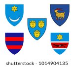 five historical coats of arms... | Shutterstock .eps vector #1014904135