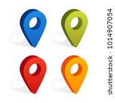 set of map pin icons with... | Shutterstock .eps vector #1014907054