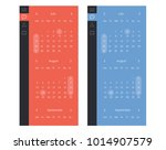 vector set of calendar widget ui | Shutterstock .eps vector #1014907579