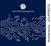 vector circuit board  digital... | Shutterstock .eps vector #1014908131