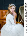 young gorgeous woman in elegant ...   Shutterstock . vector #1014909235