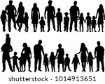 vector silhouette of family. | Shutterstock .eps vector #1014913651