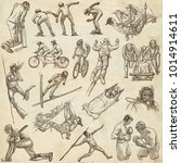 an hand drawn collection.... | Shutterstock . vector #1014914611