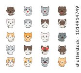 cute cartoon cats and dogs with ... | Shutterstock . vector #1014914749