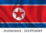 north_korea flag background | Shutterstock .eps vector #1014916069