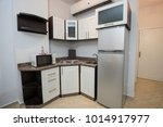 interior decor kitchen design... | Shutterstock . vector #1014917977