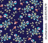 vintage seamless pattern design ... | Shutterstock .eps vector #1014919879